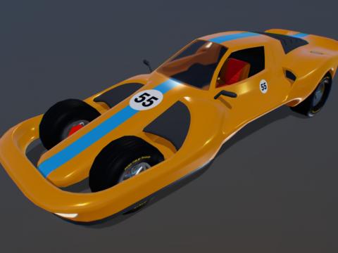 Retro-Futuristic Racecar