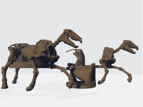 Skeleton Horse Mount + Hole FIll