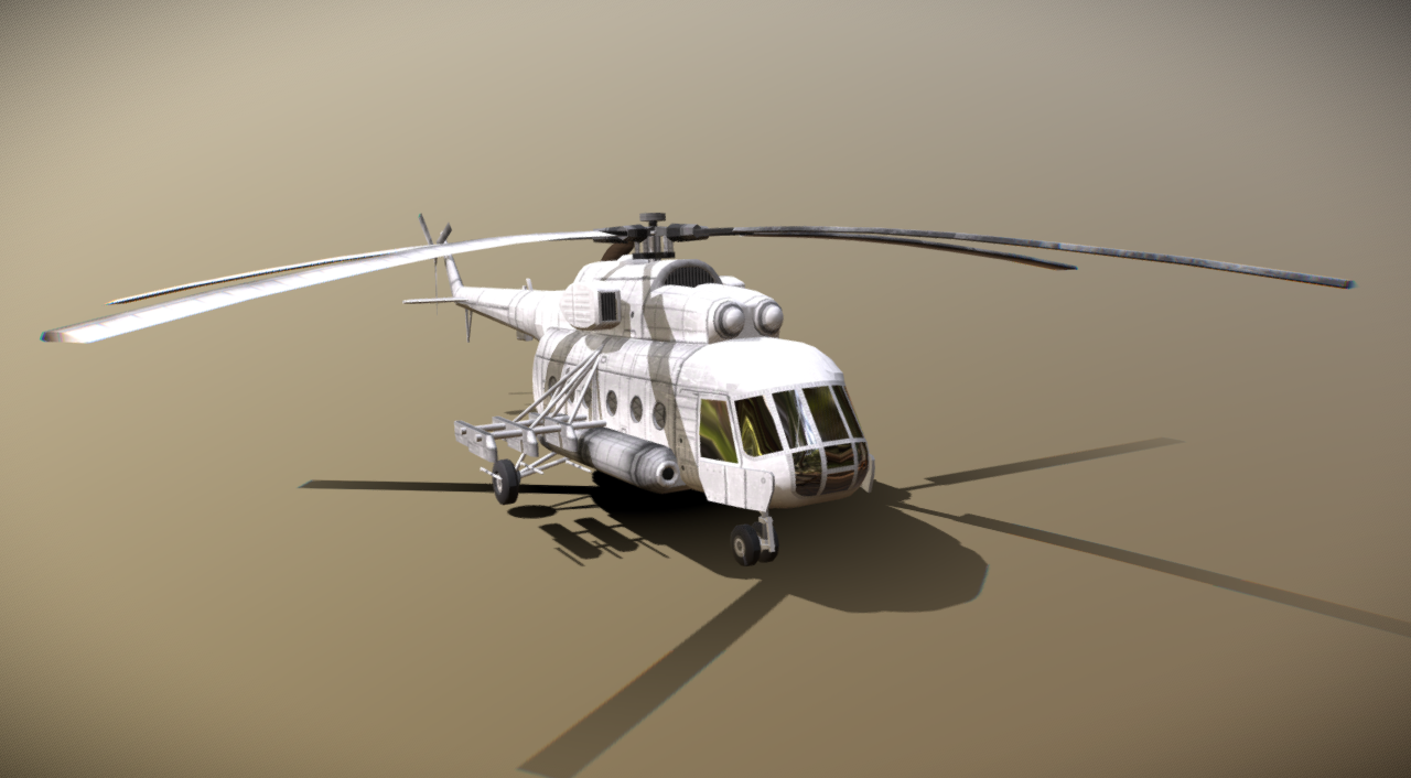 THE RUSSIAN MI-8 MEDIUM TWINE-TURBINE HELICOPTER
