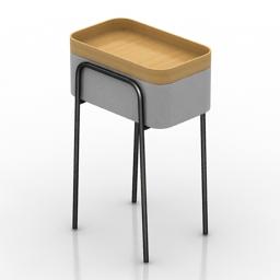 Table Ligne roset couliss 3d model