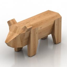 Table cofee bear 3d model