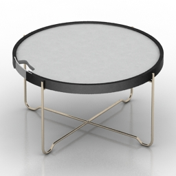 Table coffee round 3d model