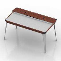 Table desk herman miller airia 3d model