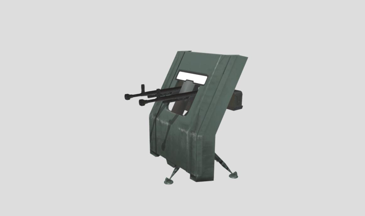 Twin Dshk Shielded Tri-pod emplacement