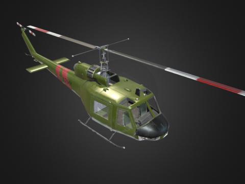 UH-1B with (half modeled cockpit)