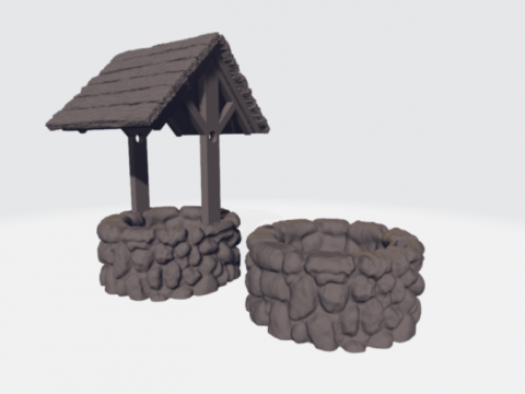 Well with removable roof