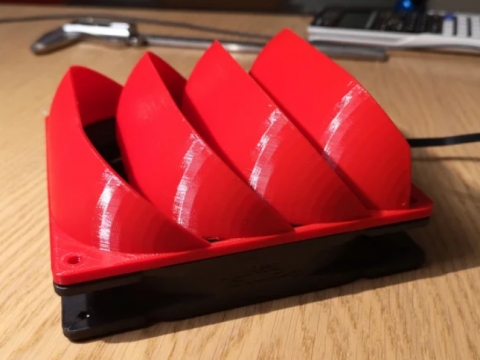 140mm 45-60° fan duct (for water cooling)
