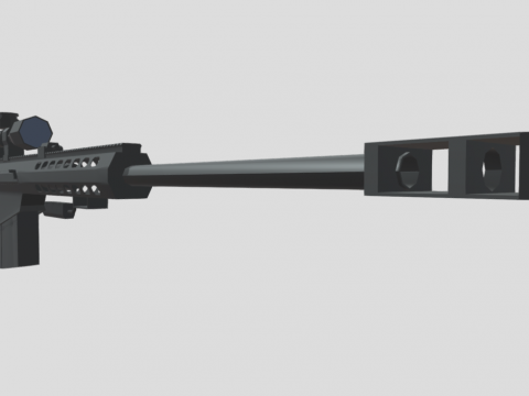 Low Poly Barrett M82A1