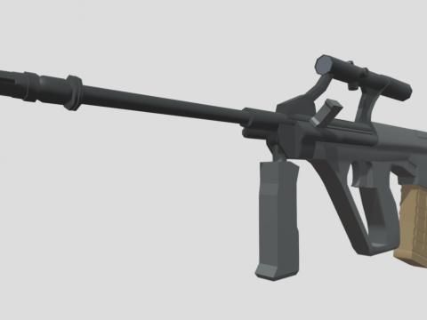 Low Poly Steyr AUG A1