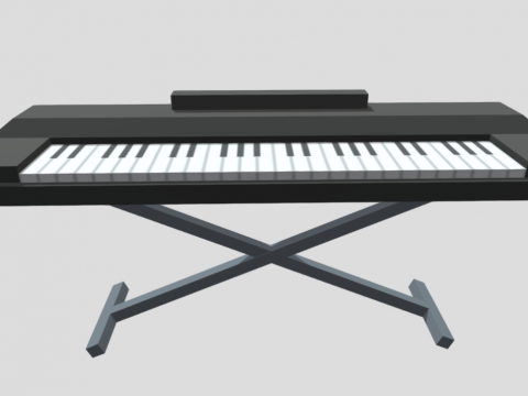 Prop Instrument Keyboard Ultra Low poly