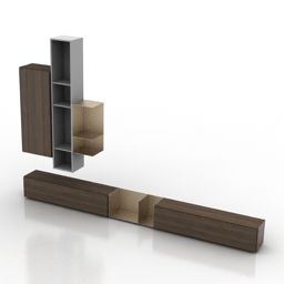 Rack BoConcept Lugano wall tv stand 3d model