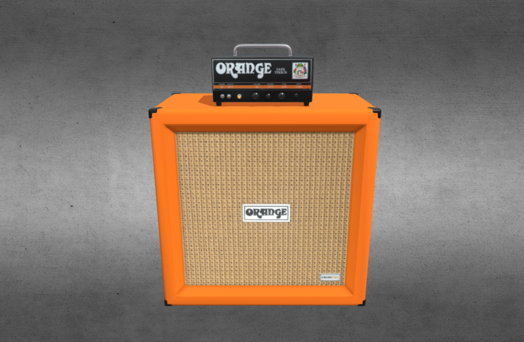 Amp and Cab ORANGE (3/3 Works with Details)