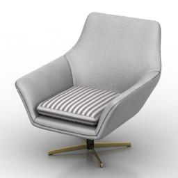 Armchair Divani Casa Poli 3d model