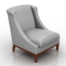Armchair Lewes Dantone home 3d model