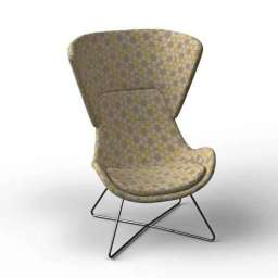 Avi H Lounge Chair 3d model