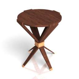 Baker Furniture - Quattro Side Table 3d model