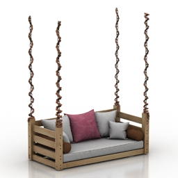 Bed QUICK SHIP SWING BED PACKAGE 3d model