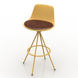 Chair bar Lotus 3d model
