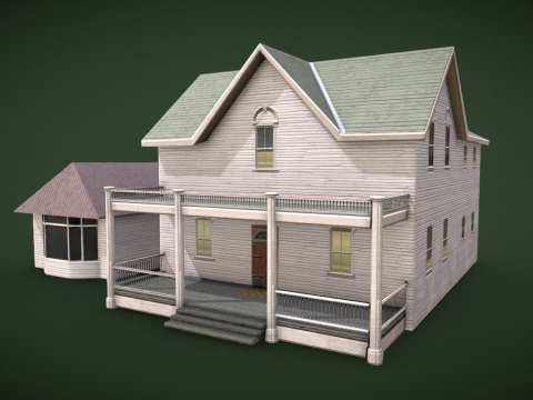 Farmhouse low poly