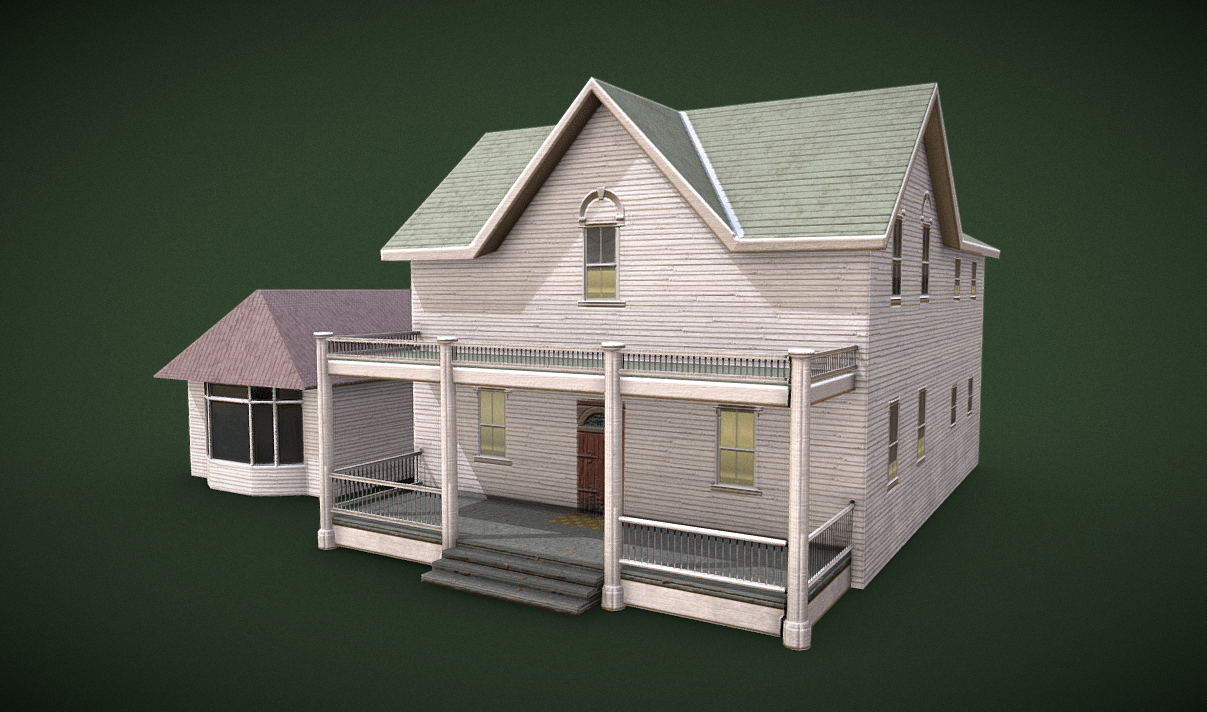 Farmhouse low poly