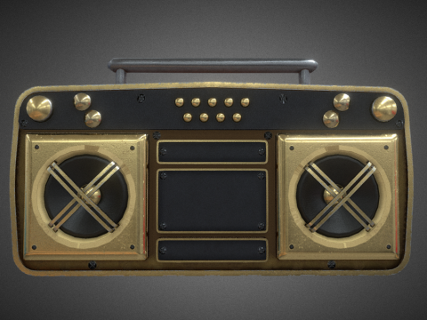 Golden Super Fly Boombox Roblox Remake