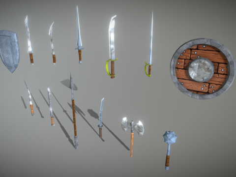Low-Poly Medieval Weapon