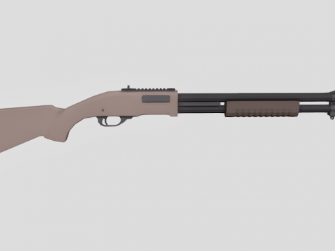 M870 Lowpoly
