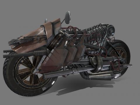 Postapo Motorcycle low