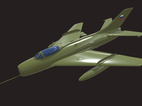 RUSSIAN AIR-FORCE SHENYANG F-6 3DMODEL (LOWPOLY)