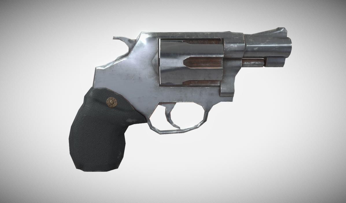 Rusty short barrel revolver