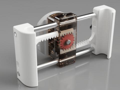 Self-adjusting phone holder (universal / garmin gps mount)