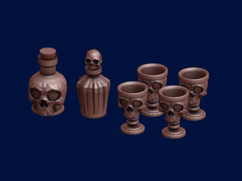Skull Goblets