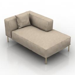 Sofa B&B Italia Frank 3d model