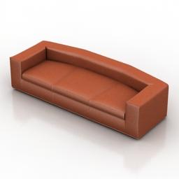 Sofa Cappellini Cuba 3d model