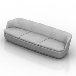 Sofa Cappellini Orla 3d model