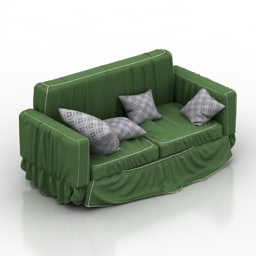 Sofa Industrial Style 3d model