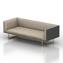 Sofa Kardiel Edward Mid Century Modern Classic 3d model