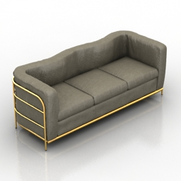 Sofa Zanotta Onda 3d model