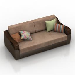 Sofa allegro 3d model