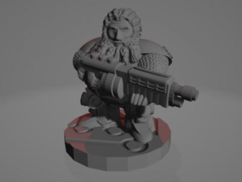 Space Dwarf With Shotgun