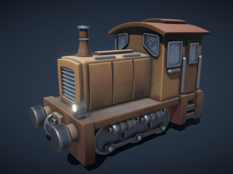Stylized Steam Engine