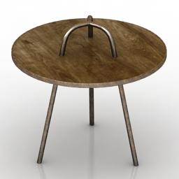 Table One kings lane tesel side 3d model