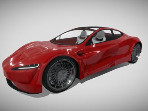 Tesla Roadster 2020 (interior)
