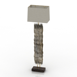 Torchere Reclaimed Driftwood 3d model