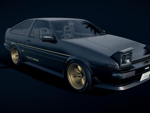 Toyota AE86 Black Limited Kouki