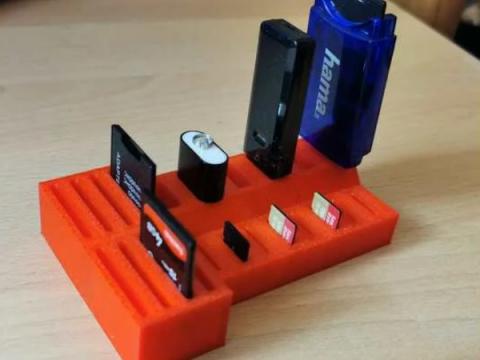 SD-Card / USB-Stick Holder and Organizer