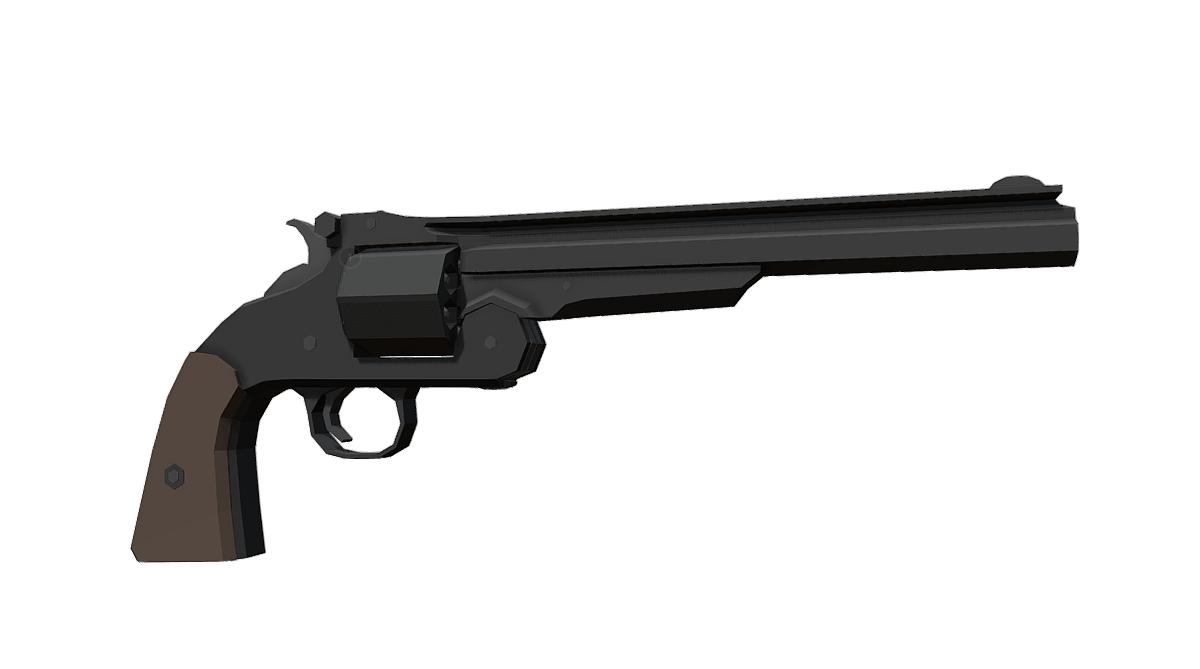 Low-Poly S&W Model 3