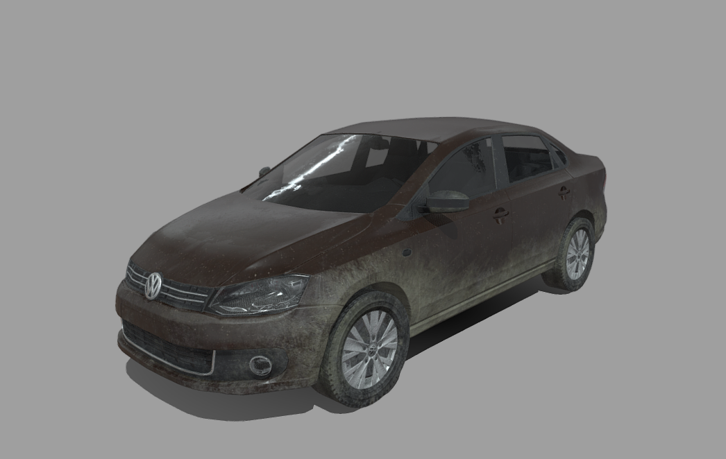 Wolksvagen polo lowpoly Free