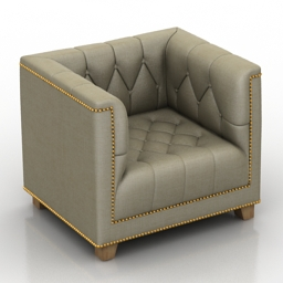Armchair Eichholtz Chair Davidoff 3d model