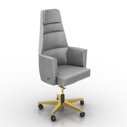 Armchair office Smania Panama 3d model